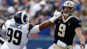 Reports: Saints' Brees has torn ligament in thumb, will miss game vs. Cowboys