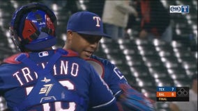 Calhoun powers Rangers past Orioles 7-6