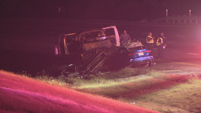 Woman killed in fiery crash on I-20 in Dallas