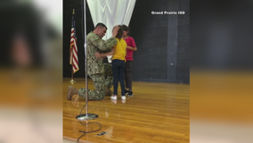 North Texas soldier surprises family with sweet reunion