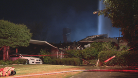 Fire destroys home in Far North Dallas
