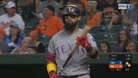 Odor HR in 6-run 1st inning, Rangers beat Orioles 9-4
