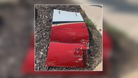 Piece of plane falls off, onto the ground in Southlake
