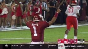 Hurts has 6 TDs, No. 4 Oklahoma beats Houston 49-31