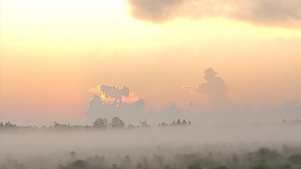 Florida man spots 'firefighter running toward angel' in clouds on September 11