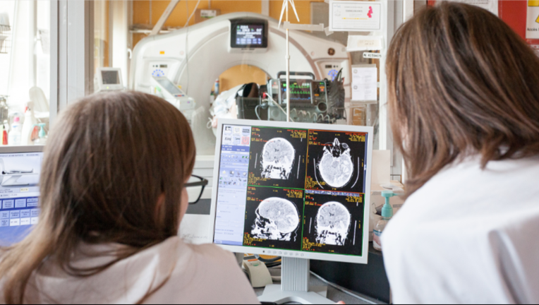 FILE-A patient is brought in the service of the medical imaging to have one MRI which will show the state of the hurts of his brain. Paca, France.