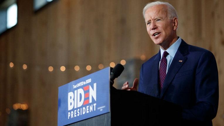Joe Biden Iowa speech on Trump and racism GETTY
