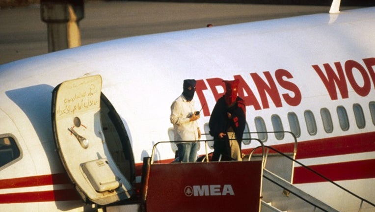TWA Flight 847 out of Athens to Rome has been hijacked by Shiite Muslims who have been identified as members of the Islamic Jihad in 1985.