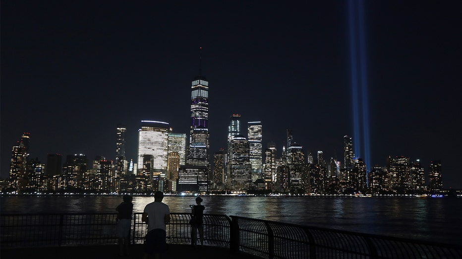 FILE - The annual Tribute in Light, marking the 18th anniversary of the 9/11 attacks on the World Trade Center is tested in lower Manhattan. (Photo by Gary Hershorn/Getty Images)
