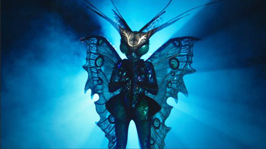 The butterfly may just be the most complicated costume the design team has ever created for 'The Masked Singer.'