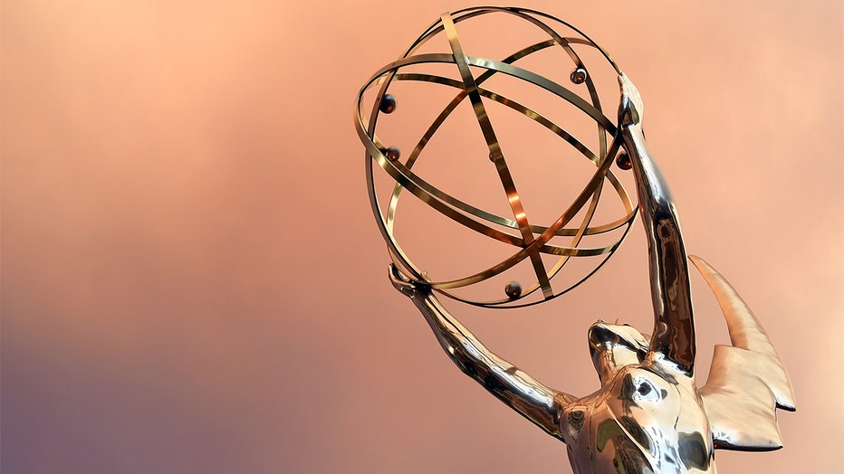 FILE -Emmy Statue is seen in front of the Television Academy.