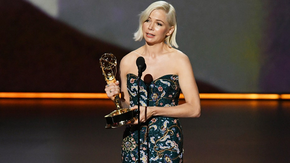 Michelle Williams accepts the Outstanding Lead Actress in a Limited Series or Movie award for 'Fosse/Verdon' onstage during the 71st Emmy Awards on September 22, 2019 in Los Angeles, California.