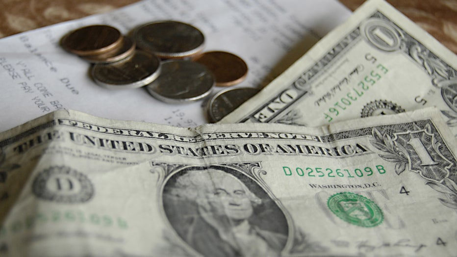 Tip money is shown in a file photo taken at a restaurant on June 7, 2012 (Photo credit: Francis Dean/Corbis via Getty Images)