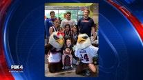 Allen Eagles help 3-year-old fan celebrate his birthday