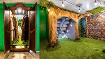 Magical: Mom builds secret Narnia room with wardrobe entryway for daughter