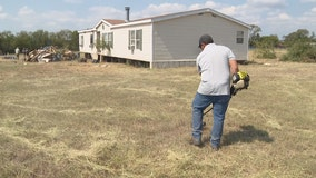 After drawing complaints, volunteers clean Justin veteran's messy yard, renovate home