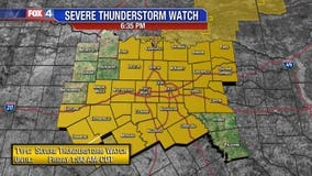 Severe Thunderstorm Watch issued for large portion of North Texas
