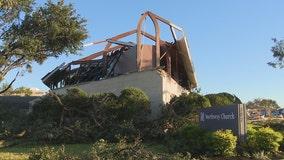Dallas church heavily damaged by tornado hosts community dinner