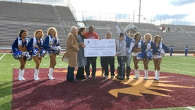 Jerry Jones surprises high school team with $1 million check to rebuild field