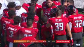 Duffey leads Texas Tech past No. 21 Oklahoma State 45-35