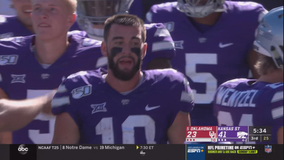 Thompson scores 4 TDs as K-State stuns No. 4 Sooners, 48-41