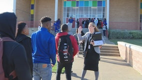 Thomas Jefferson High School staff helping students transition to new campus