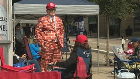 President Trump supporters camp out ahead of Thursday's Dallas rally