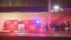 1 dead, 1 injured in overnight fiery crash on I-20 in Dallas