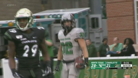 Charlotte edges North Texas 39-38 on TD with 18 seconds left