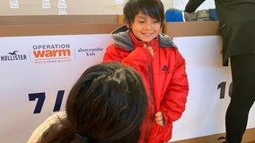 Operation Warm surprises Dallas students with new coats as temperatures drop near freezing