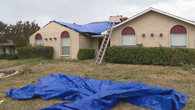North Texans rush to tarp homes damaged by tornadoes as rain hits the Metroplex