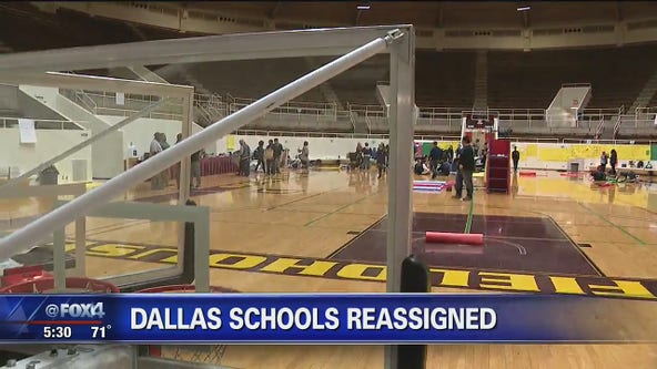 Dallas ISD preps field house for students to return to class Wednesday