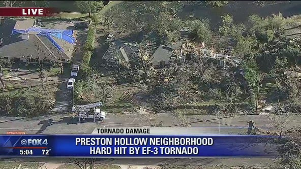 Preston Hollow neighborhood hit hard by EF-3 tornado