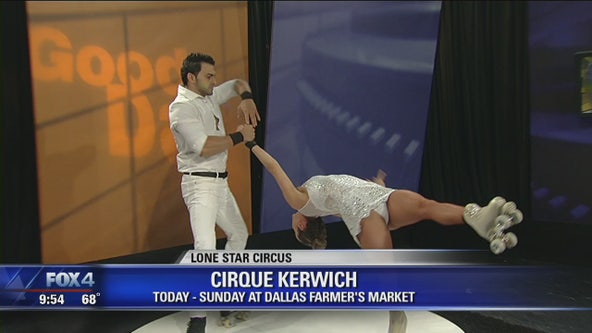 'Cirque Kerwich' by Lone Star Circus features acrobatic skating duo
