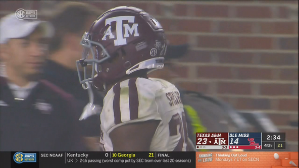 Fumble recovery, late TD helps Texas A&M beat Ole Miss 24-17
