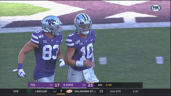 Late touchdown pushes Kansas State past TCU 24-17