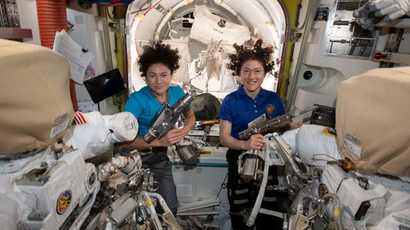 World's 1st female spacewalking team makes history
