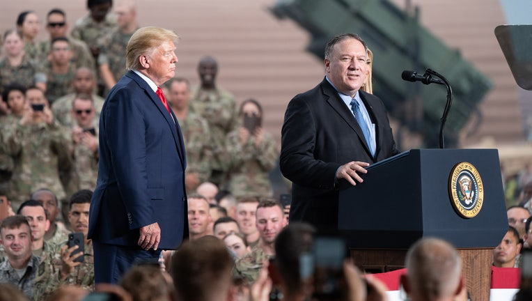 Secretary of State Mike Pompeo addresses his remarks to military personnel and their families Sunday, June 30, 2019, at Osan Air Base, Korea. (Official White House Photo by Shealah Craighead)