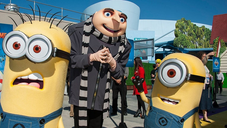 UNIVERSAL CITY, CA - APRIL 11: Gru and his Minion attends Universal Studios Hollywood Celebrates The Premiere Of New 3D Ultra HD digital Animation Adventure