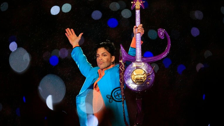 Prince performs during the 'Pepsi Halftime Show' at Super Bowl XLI February 4, 2007 at Dolphin Stadium in Miami Gardens, Florida.
