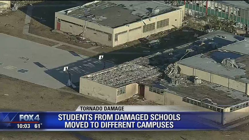 3 Dallas ISD schools closed for rest of school year due to tornado damage