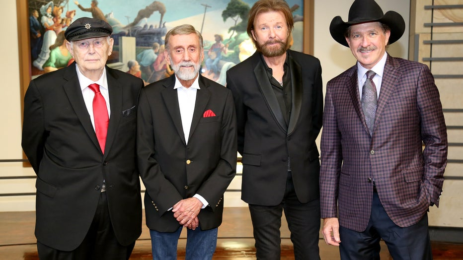 Inductees Jerry Bradley, Ray Stevens, Ronnie Dunn and Kix Brooks of Brooks and Dunn (L-R) attend the 2019 Country Music Hall of Fame Medallion Ceremony at Country Music Hall of Fame and Museum on October 20, 2019 in Nashville, Tennessee. (Photo by Terry Wyatt/Getty Images for Country Music Hall of Fame and Museum)