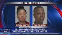 Two women accused of looting North Dallas home damaged by tornado
