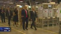 President Trump, Tim Cook tour Apple plant in Austin