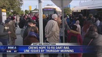 Crews hope to fix DART rail line issues by Thursday morning