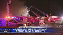 Crews battle four-alarm warehouse fire near Fair Park