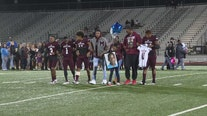 Jordan Edwards honored during Senior Night at Mesquite High School