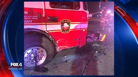 Firefighter injured after driver crashes into Plano Fire-Rescue vehicle while it was blocking traffic