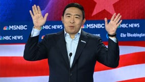 Andrew Yang asked 1st question 32 minutes into debate; later jokes he'll tell Putin 'Sorry I beat your guy'