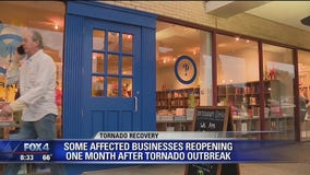 Some businesses reopen after tornado damage